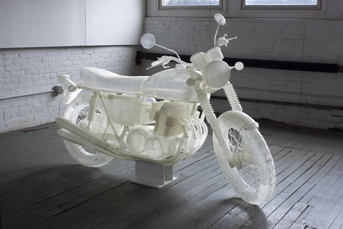 Honda CB 500 ano 1972 feita em impressora 3D
